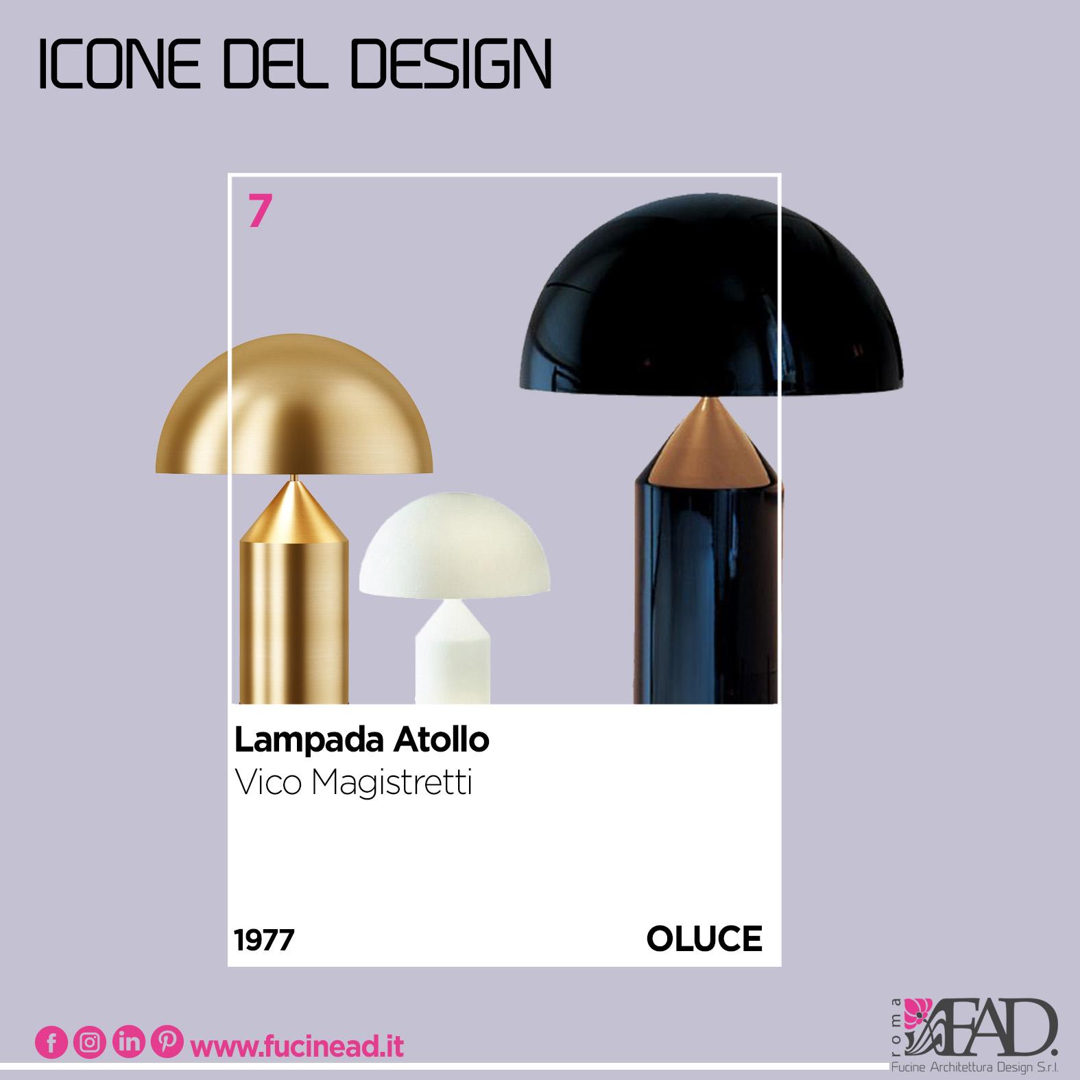 le icone del design - lampada atollo