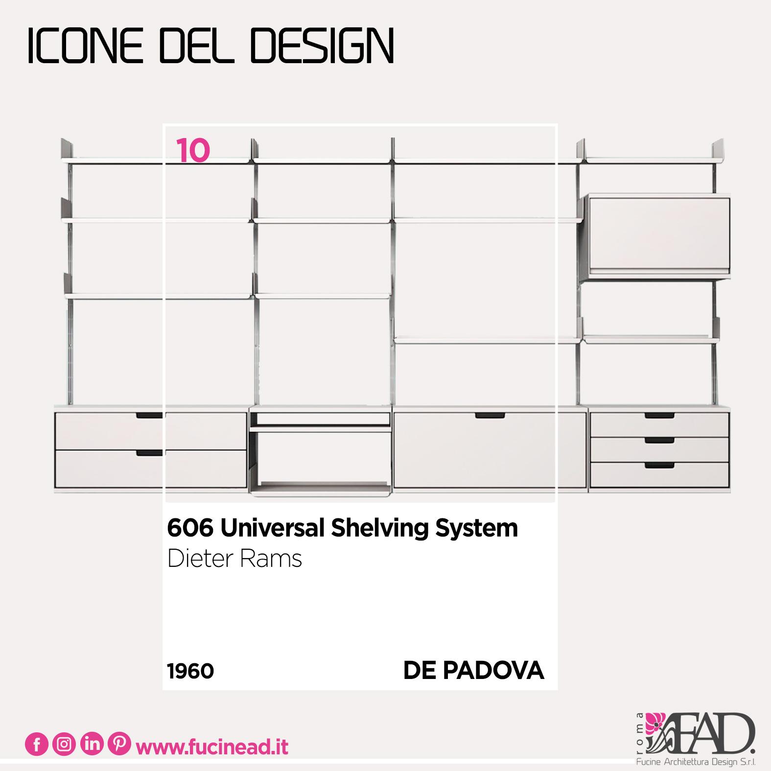606 Universal Shelving System – 1960 Dieter Rams by De Padova